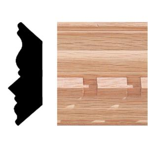 House of Fara 3/4 in. 2-1/4 in. x 8 ft. Oak Dentil Crown Moulding