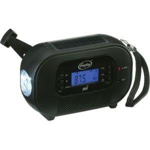 Freeplay Solar/Crank AM/FM/WX Radio with Flashlight and USB Charger by