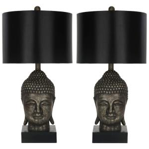 Safavieh 24.5 inch Gold Buddha Table Lamp (Set of 2) by