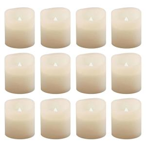 Click here to buy Lumabase 1.5 inch Warm White Votive LED Candle (Set of 12) by Lumabase.