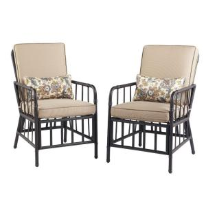 Martha Stewart Living Bryant Cove Patio Dining Chair 2 Pack Dybc D The Home Depot