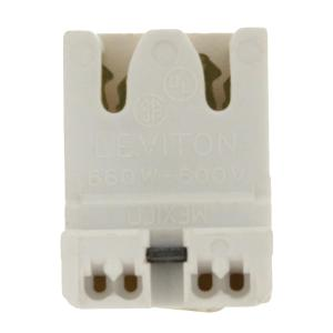 Leviton 660W Medium Base T8 Bi-Pin Low Profile Screw Mount Straight-In Double... by Leviton