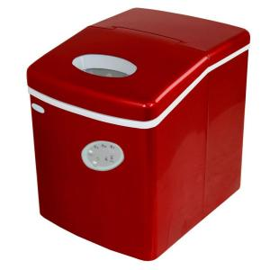 NewAir 28 lb. Freestanding Ice Maker in Red-AI-100R - The Home Depot