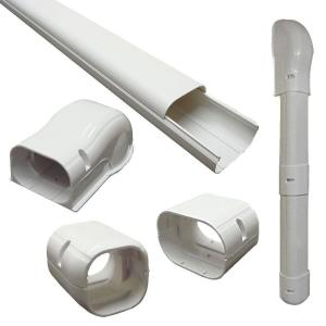 DuctlessAire 3 inch x 7.5 ft. Cover Kit for Air Conditioner and Heat Pump Line...