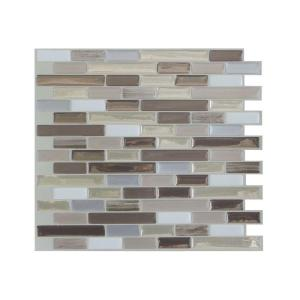 in x in peel and stick mosaic decorative wall tile backsplash