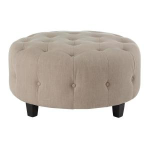 Awesome Round Ottomans Living Room Furniture The Home Depot Lamtechconsult Wood Chair Design Ideas Lamtechconsultcom