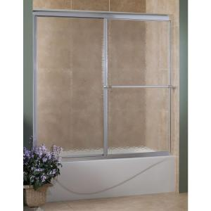 Foremost Tides 56 in. to 60 in. x 58 in. H. Framed Sliding Tub Door in Oil Rubbed Bronze with Rain Glass