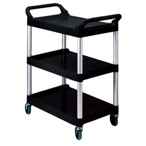 Rubbermaid Commercial Products 200 lb. Holding Capacity Utility Cart with Swivel Casters in Black by