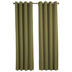 Blackout Ultimate Blackout Polyester Grommet Curtain Panel 56 inch W x 96 inch L Sage by
