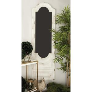 21 inch x 72 inch Shabby Chic Vintage White Window Chalkboard Wall Panel by