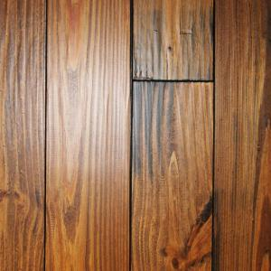 Hand Scraped Roasted Pine 3 4 In Thick X 5 1 8 In Wide X