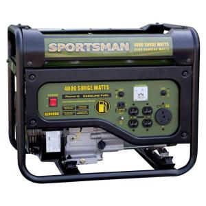 Sportsman 801187 4000 Watt Gasoline Portable Generator with RV Outlet (Green)