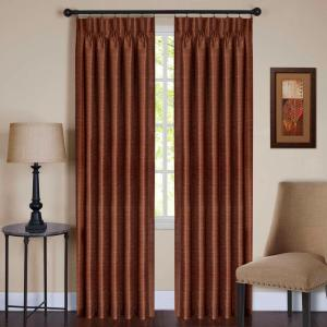 Achim Sheer Parker Spice Pinch Pleat Window Curtain Panel - 34 inch W x 84 inch L by