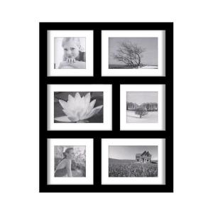 Home Decorators Collection 19 in. H Manhattan Black 6-Opening Collage Picture Frame