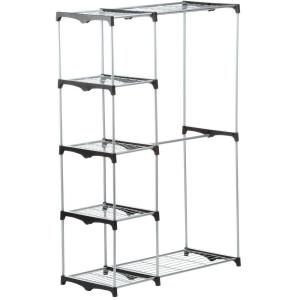 Honey-Can-Do Double Rod Freestanding Closet in Chrome by Honey-Can-Do