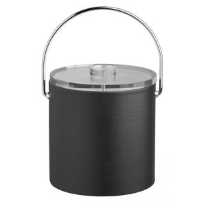 Kraftware Contempo 3 Qt. Black Ice Bucket with Bale Handle and Thick Lucite Lid by Kraftware