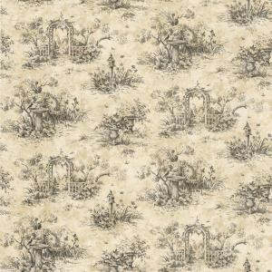 The Wallpaper Company 56 sq. ft. Black Country Toile Wallpaper