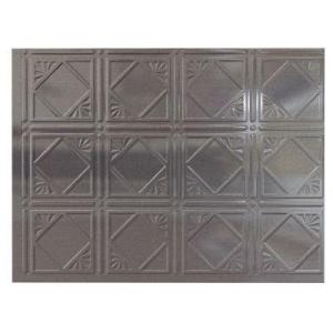 cross hatch silver panel metal backsplash from home depot walls house