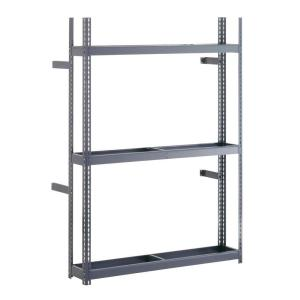 Edsal 60 inch W x 84 inch H x 12 inch D Steel Commercial Tire Rack Shelving Unit