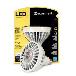 EcoSmart PAR38 18-Watt (75W) Bright White LED Flood Light Bulb (2-Pack) (E)*-DISCONTINUED