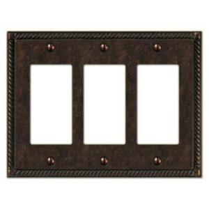 Creative Accents Tuscan 3 Decora Wall Plate - Antique Brass-DISCONTINUED