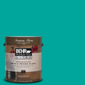 BEHR Premium Plus Ultra Home Decorators Collection 1-gal. #HDC-MD-22 Tropical Sea Flat/Matte Interior Paint