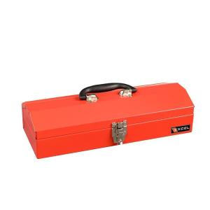 Excel Portable Steel Tool Box, Red, 16.1 in. W x 6.1 in D x 3.7 in H, Each