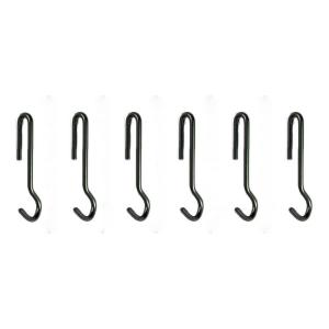 Enclume Angled Pot Hook Set of 6 Use with Pot Racks in Hammered Steel by