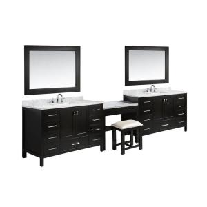 Design Element Two London 54 inch W x 22 inch D Vanity in Espresso with Marble... by Design Element