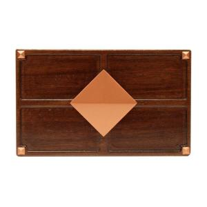 Hampton Bay Wireless or Wired Door Bell, Medium Red Oak Wood with Diamond...