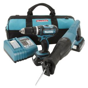 Makita 18-Volt LXT Lithium-Ion Combo Kit (2-Tool)