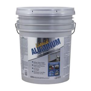Gardner 4.75-Gallon Liquid Aluminum Latex Based Silver Paint