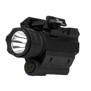 iProtec 190-Lumen LED Firearm Flashlight and Red Laser Combo for Rail-Equipped Pistols and... by