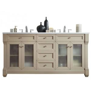 James Martin Signature Vanities Weston 72 inch W Double Vanity in Sea Gull with Solid Surface Vanity Top in Arctic Fall... by