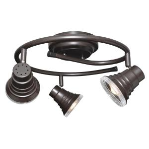 AFX INC Madrid 1.5 ft. 3-Light Oil-Rubbed Bronze Integrated LED G-Rail Track Lighting Kit by