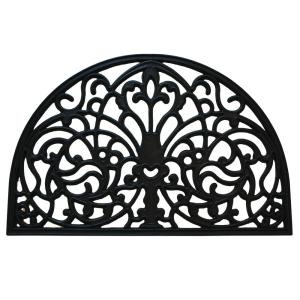 Inspired Accents Wrought Iron Florentine 16 inch x 24 inch Rubber Door Mat by