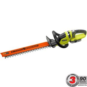Ryobi ONE+ Lithium+ 22 inch 18-Volt Lithium-Ion Cordless Hedge Trimmer - 1.5 Ah Battery and Charger Included by