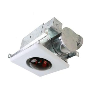 Nuvent 70 Cfm Ceiling Mount Bath Fan With Heat Light Nxbv70 The Home Depot