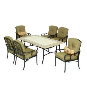 Martha Stewart Captiva Patio Dining Set with Mosaic Table ... on Martha Stewart Living Outdoor Patio Set id=82866
