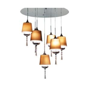 BAZZ Versa Collection 7-Light Chrome Hanging Chandelier