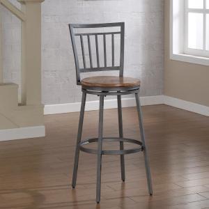 American Woodcrafters Filmore 30 inch Grey Swivel Bar Stool by American Woodcrafters