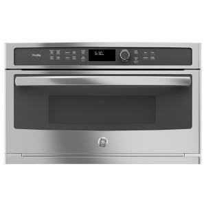 GE Profile 30 inch Electric Convection Wall Oven with Built-In Microwave in Stainless Steel by GE Profile