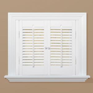 shutters home depot interior homebasics traditional real wood snow interior shutter 21677