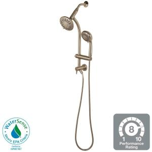Brushed Nickel in Wall Bar Shower Kits