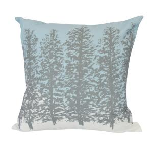 16 inch Hidden Forrest Floral Print Decorative Pillow by