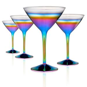 Assorted Colors martini glasses