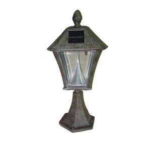 bronze post mount lamp with 6 led bulbs gs 106pwb the home depot. Black Bedroom Furniture Sets. Home Design Ideas