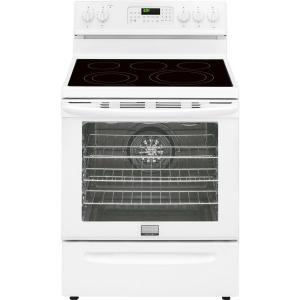Click here to buy Frigidaire Gallery 30 inch 5.7 cu. ft. Electric Range with Convection Self-Cleaning Oven in White.