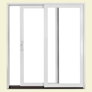 JELD-WEN Tradition 71 in. x 79 in. White Left-Hand Aluminum Clad Sliding Patio Door with Insulated LowE Tempered Glass