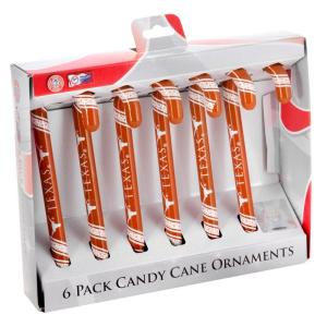 Forever Collectibles Texas Team Candy Cane Ornaments (6-Pack)